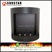Flat and Curved Wall Mounted Electric Fireplace