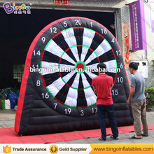 Cheap price inflatable turntable velcro digital soccer darts board