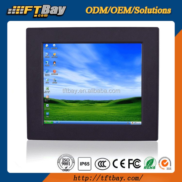 10.4 Inch embedded industrial all in one pc touch screen fanless mini panel computer