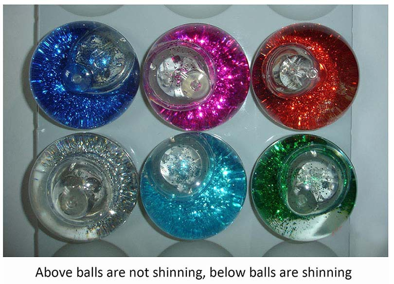 new 2015 hot selling China supplier toy water filled balls with glitter