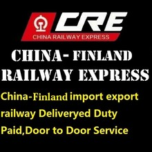 Best shipping cost from china to Finland logistcis 20 days Door to Door Service shipment by train Deliveryed Paid Duty railway
