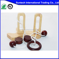 wooden string puzzles Ring on Stick
