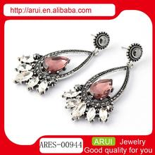 Purchase in china of costume jewelry gamet teardrop earrings designs
