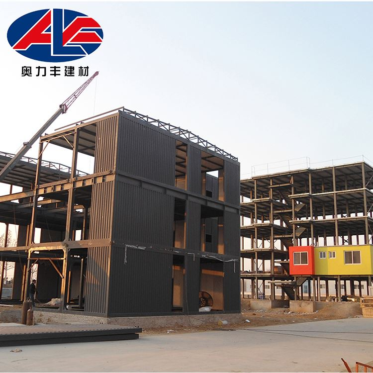 China Factory Construction Frame Steel Structure Building Luxurious Prefab Villa For Sale