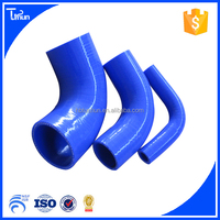 Eco-friendly customized any colours auto parts 90 degree reducer silicone elbow hose