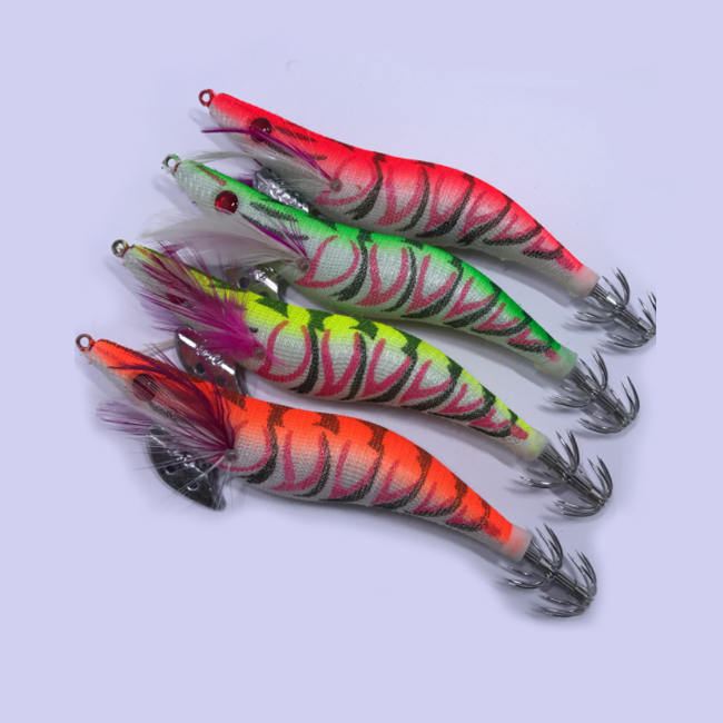 wholesale 5 colors plastic squid jigs fishing lure