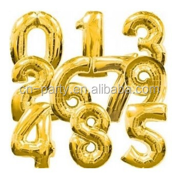 New design of 40 inches foil numbers balloon