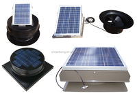USA Solar attic fans for solar roof extactor gable fans