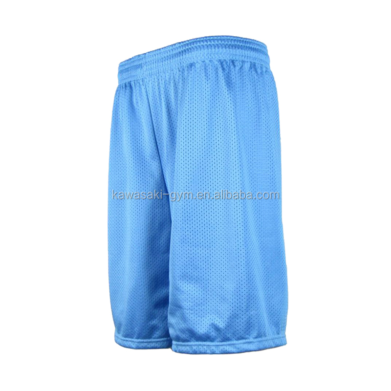 OEM wholesale international mens baby blue blank custom basketball shorts team