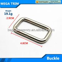 Especial metal buckle rectangle silver belt buckle for luggage and suitcase