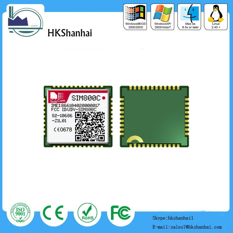 SIM800C sim800c module SIMCOM newest and cheapest GSM/GPRS module replace SIM800 SIM900 with small size and LCC interface