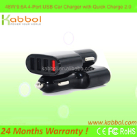 Quick Charge 2.0 9.6A 48W Optimal Speed 4 Port USB Car Charger for iPhone, iPad, Samsung, Nexus, Game Machine & More