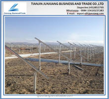 Factory suppling galvanized farm solar rack ,solar panel bracket solar racking system /10kw solar panel system