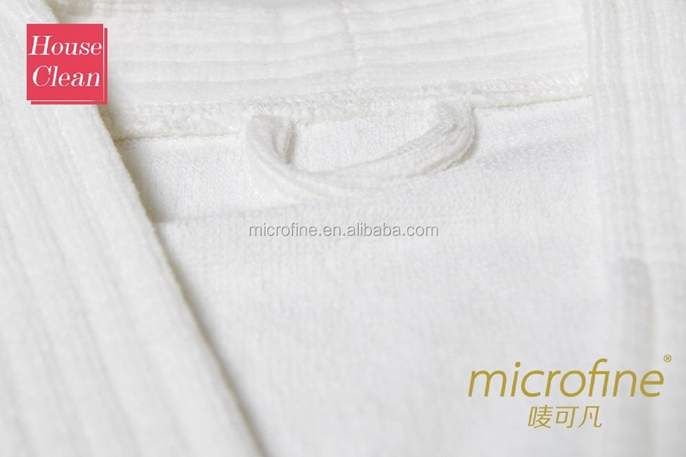 warp knitting microfiber hotel bathrobe