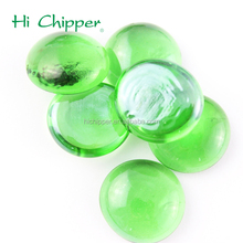Dark green flat back glass beads for fire pit decoration