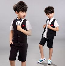Custom Guangzhou factory price 3 pieces best fitting formal wedding suits for children wholesale