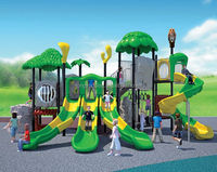 New design double colors slide commercial outdoor playground equipment
