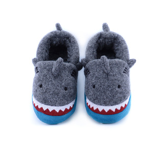Animal plush soft fluffy baby winter slippers customized