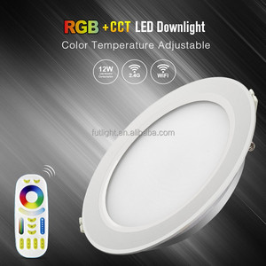 Milight Fut066 rgb+cct downlight warm and cold white led downlight wifi App 8-channel downlight