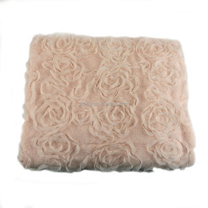 Wholesale 100% polyester rose shape plus moroccan wedding blanket