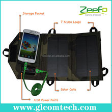Solar power pack waterproof &flexible custom made charger solar bag with two solar panels