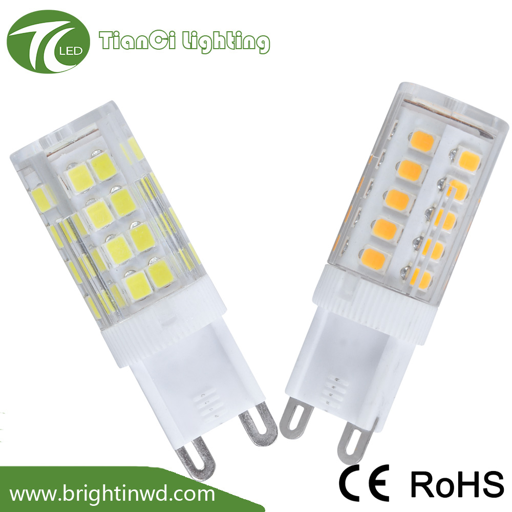 Hot sale 5w ceramic CE RoHs smd 2835 g9 led <strong>bulb</strong>