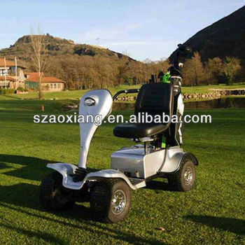 New Electric golf cart for 1 person with CE approval and golf bag holder