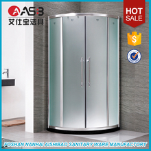 unique best sell sliding frosted glass round shower door parts