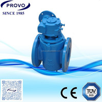 FLANGED TYPE ECCENTRIC PLUG VALVES with worm gear operator