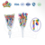 two shaped mixed colorful stripe twist lollipop