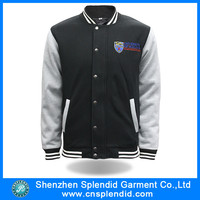 Cheap custom wholesale blank plain baseball varsity jackets