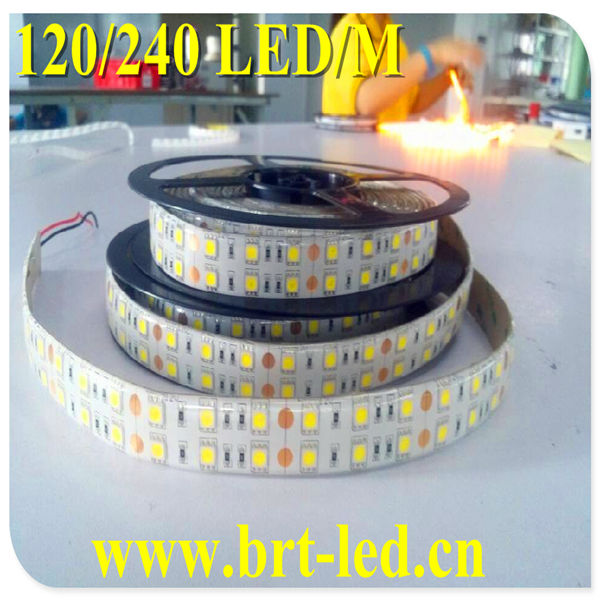 Ultra bright DC12/24V waterproof 5050 flexible led strip 120led/<strong>m</strong>
