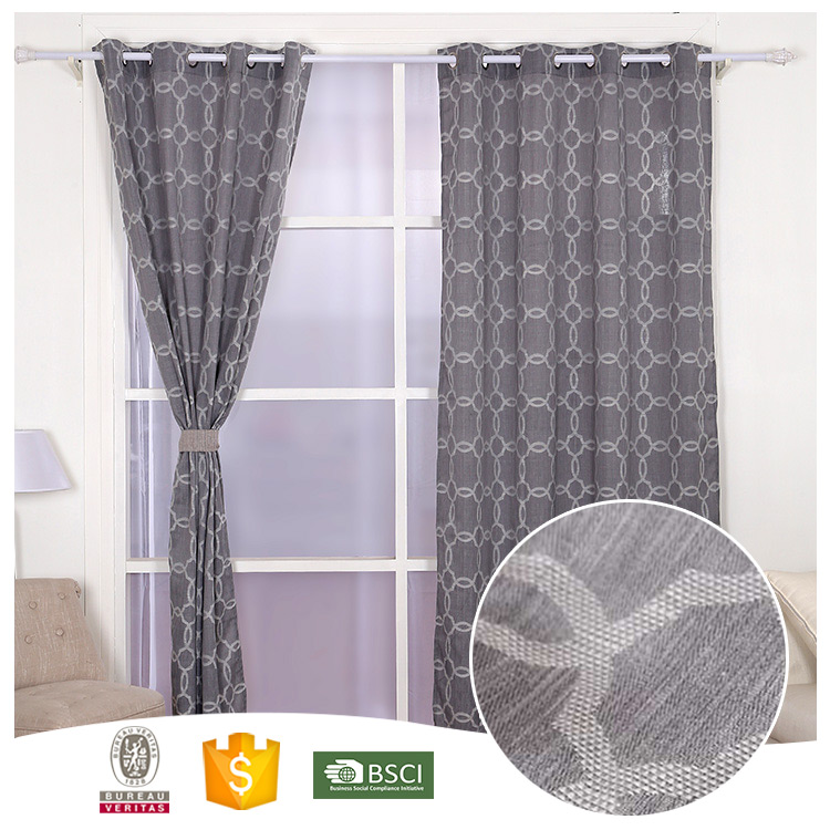 Hot Selling 10 Years Experience Abstract loop style curtains