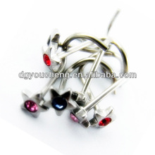 316Lstainless steel star shaped top 16g designer nose rings