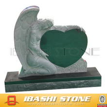 cheap double heart cemetery headstone tombstone, child headstone