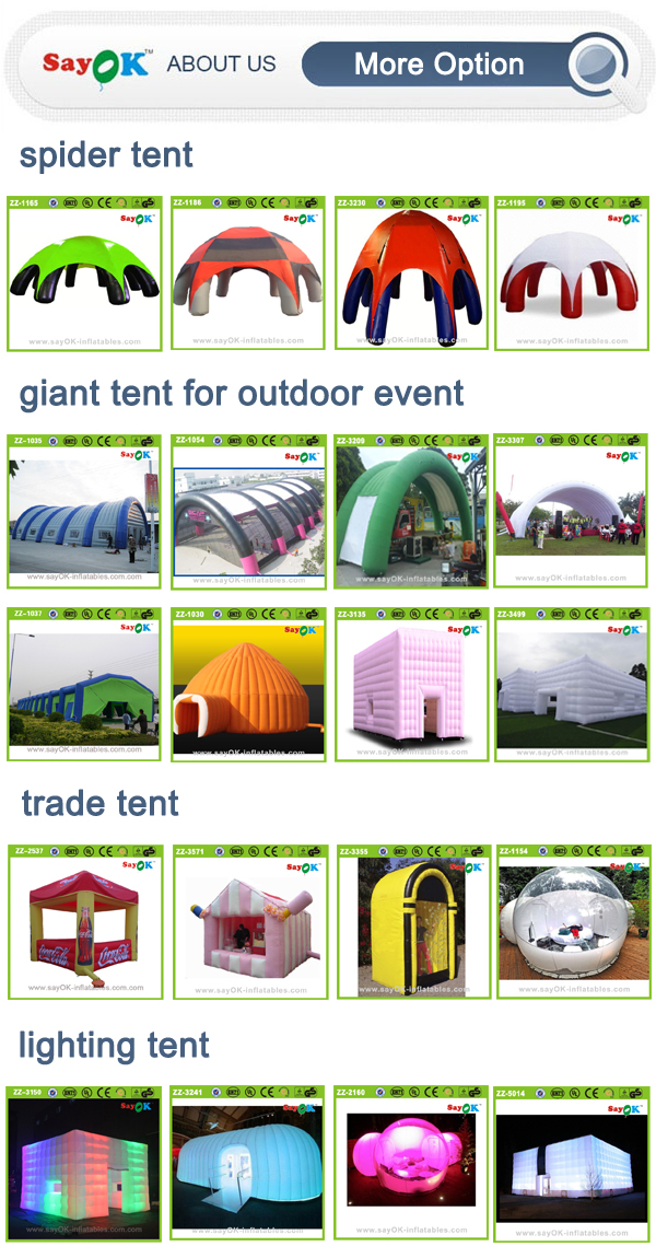 mobile PVC tarpaulin inflatable car garage tent spray painting room