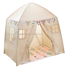 Cotton Canvas Fabric Kids Play Tent House