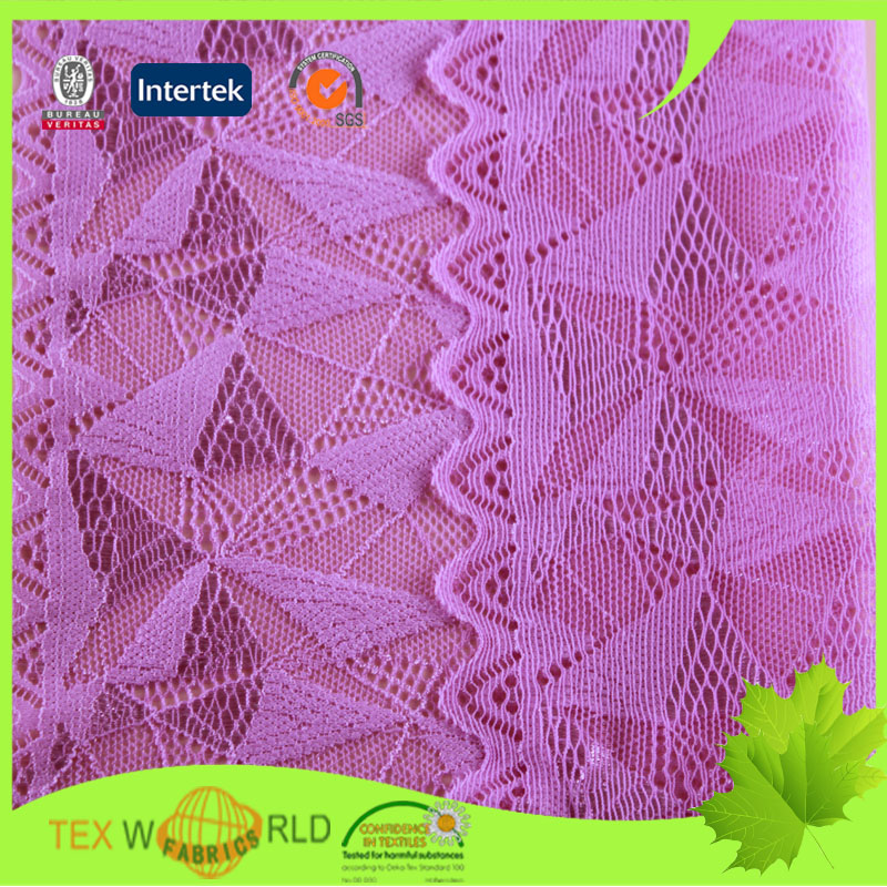 Nylon spandex fashion jacquard african net lace fabric
