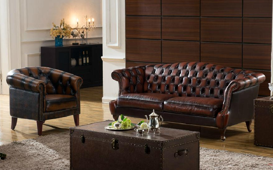 leather sofa set kayu