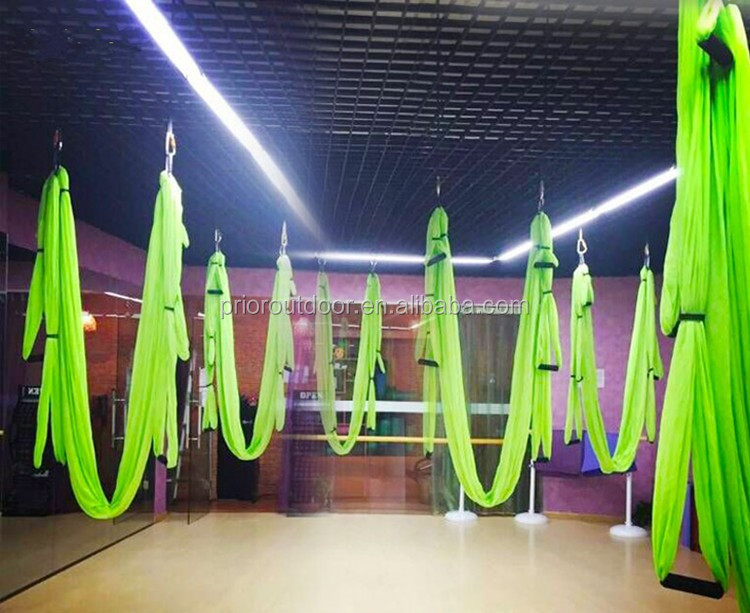 NEW! Upgraded Stretch silked 6 handles full set Antigravity Yoga hammock for sale aerial yoga swing wholesale & custom factory