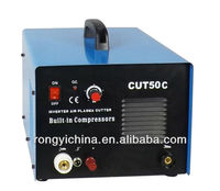Retail or wholesale CUT50C RONGYI New Mini Inverter 220V DC Plasma Cutting Machine With Buit-in Compressor