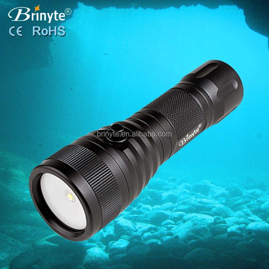 Brinyte DIV08V 120 wide angle underwater video torch