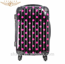 2015 Girl's Dot Printing ABS PC Hard Shell Rolling Luggage
