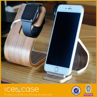Enviromental material wooden/bamboo charging holder stand for apple watch