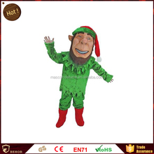 Practical Best sell Christmas elf cosplay cartoon sex apparel mascot costume