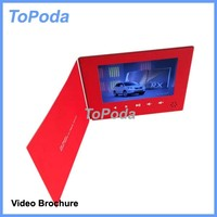 Alibaba China Topoda hot video brochure 7 inch