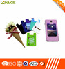 3m sticker smart silicone mobile phone wallet card holder