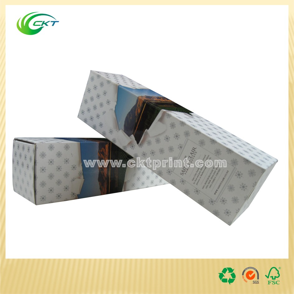 Gold embossed 750 ml best bottle box for wine produced in China