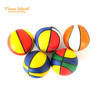 Rainbow PU Foam Mini Basketball Sport Stress Ball