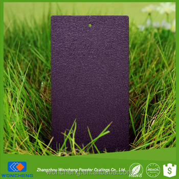 Claret Purple Glittering Leather Effect Outdoor Powder Coating